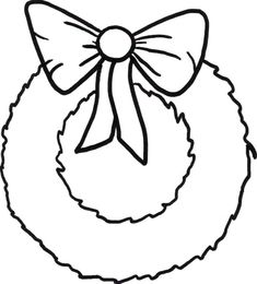 Christmas wreath free coloring pages ~ Christmas Wreath - Coloring Page ( | Christmas coloring ...