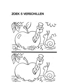 Verschillen Preschool Worksheets, Kindergarten Activities, Learning Activities, Kids Learning, Activities For Kids, Find The Differences Games, Preschool Painting, Coding For Kids, Hidden Pictures