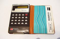 Vintage Calculator Sharp Elsi Mate EL-8024 with Manual and Case Tested Working