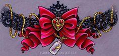 S. Brooch Garter Belt - Commission by 16Shokushu on deviantART..Beautiful Art!!