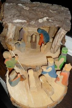 We love this rustic #nativity! Learn how to make your own!