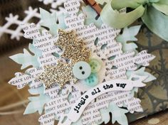 Christmas snowflake tag