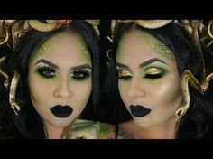 MEDUSA HALLOWEEN MAKEUP TUTORIAL + HOW TO SNAKE SCALES - YouTube