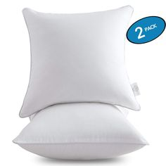 18 X 18 Pillow Inserts Set Of 2 - Throw Pillow Inserts With 100 Cotton Cover - 18 Inch Square Interior Sofa Pillow Inserts - Decorative Pillow Insert Pair - White Couch Pillow,,Christmas Day Products,Gifts Products Couch Cushion Covers, 20x20 Pillow Covers, Throw Pillow Cases, Couch Pillows, Pillow Inserts, Decorative Throw Pillows, Pillow Set, Chair Pillow, Fabric Feathers