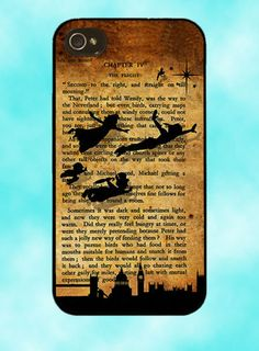 Disney Peter Pan Tinkerbell Book Case Cover Mobile Quotes Phone iPhone 4 4S 5 | eBay