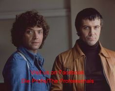 Martin Shaw and Lewis Collins, stars of The Professionals