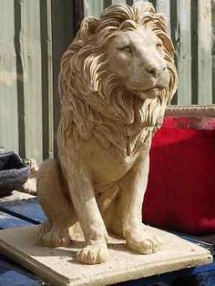 Exceptionnel Pair Of #large Cotswold #stone Lion Statues / Garden #ornaments, View More