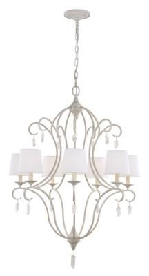 Murray Feiss - F2933/7CHKW - Seven Light Chandelier - Chalk Washed