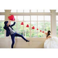 ハートの風船を撮影小物にする投げキッスショットの撮り方   marry[マリー]