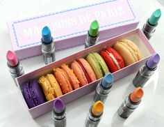 NYX Macaroon Lippies~ I want the Pistachio (mint green/blue) and the Lavender one!!!!!