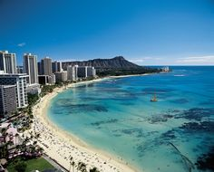 Miss this place! Honolulu .  Waikiki Beach.. Mountain is Diamond Head.  I climbed that bia! Memories <3