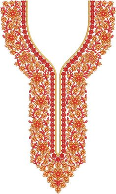 Latest Neck Designs for Kurtis / Dress / Suit / Men's Neck, Gala Designs Download Embroidery Design From EMBCART Mobile application Embroidery Neck Designs, Embroidery Works, Machine Embroidery Patterns, Hand Embroidery, Gala Design, Latest Dress Design, Hand Work Design, Daisy Shah, Kurti Neck Designs