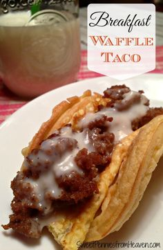Fun Waffle Tacos Recipes for Breakfast. These are so easy to make and the whole family loves them. You can customize them any way you want...even a sweet variety with fresh fruit and whipped cream!