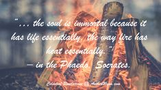 #Socrates argued the #soul animates the #body of a #living thing, his interpretation of as #heat is to #fire #ignites the #imagination... - Celestial Revelations.  Books By Spirits @ AntheaWynn.com
