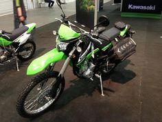 Kawasaki KLX 250 as seen at the Toronto Spring Motorcycle Show on March 16-17, 2013.
