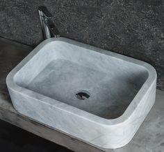 FARM grey marble lavabo rettangolare da appoggio #marble #travertine #travertino #marmo #lavandino #lavabo #travertino #interni #arredobagno #industriale #stile #interior #interiordesign #design #decor