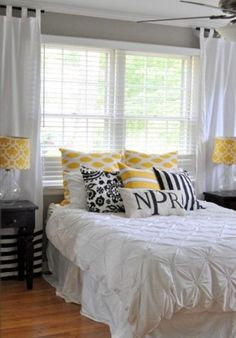 Sunny Yellow accents in bedrooms stylish ideas Check more at http://furnituremodel.info/49099/sunny-yellow-accents-in-bedrooms-stylish-ideas/