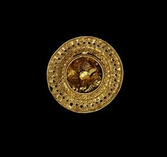 Gold  brooch with filigree, Etruscan, ca 500-400 BC