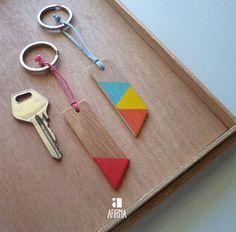 porta chaves de madeira.
