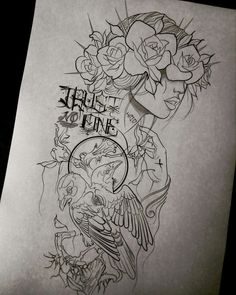 ideas tattoo flower sketch how to draw for 2019 Tattoos And Body Art tattoo stencils Trendy Tattoos, Love Tattoos, Beautiful Tattoos, New Tattoos, Body Art Tattoos, Tattoos For Guys, Pin Up Tattoos, Stencils Tatuagem, Tattoo Stencils