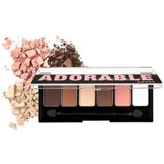Nyx The Adorable Adorable Shadow Palette ($5.69) ❤ liked on Polyvore featuring beauty products, makeup, eye makeup, eyeshadow, nyx eye shadow, nyx, nyx eyeshadow and palette eyeshadow