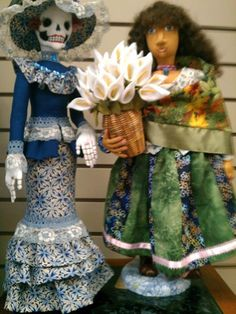 Grits and Giggles. Art doll. Handmade doll. Heirloom doll. Day of the Dead doll.