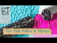 Polymer Clay Pattern Rollers & Stamps From Kor Tools - YouTube Polymer Clay Tools, Polymer Clay Canes, Polymer Clay Projects, Diy Clay, Polymer Clay Earrings, Clay Crafts, Jewelry Making Tutorials, Clay Tutorials, Clay Stamps
