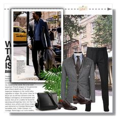 """""""Man style"""" by anne-977 ❤ liked on Polyvore featuring Paul Smith, Santoni, Winter and manstyle"""