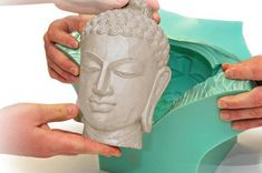 How to Cast Buddha Head At Home! Easy Casting Supplies, Cure Time Only 10 minutes! Buddha Head, Resin Casting, Plastic Molds, Diy Molding, Off White Color, Diy Arts And Crafts, The Cure, Bubbles, It Cast