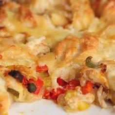 One-pan Chicken Fajita Bombs Recipe by Tasty Fajita-Stuffed Chicken Tasty Videos, Food Videos, Mexican Food Recipes, Dinner Recipes, Cooking Recipes, Healthy Recipes, Easy Recipes, Snacks Für Party, Chicken Fajitas