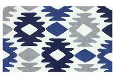 Khloe Rug, Blue/Ivory on OneKingsLane.com