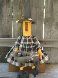 Handmade Primitive Doll...Painted, sanded, aged Made by Precious*Attic*Prim's--JoyLynn Can find on Ebay