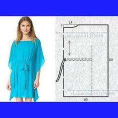 Dress Sewing Patterns, Blouse Patterns, Sewing Patterns Free, Clothing Patterns, Skirt Patterns, Coat Patterns, Kaftan Pattern, Costura Fashion, Sewing Blouses