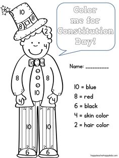 Charming Constitution Day Coloring Code