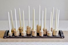 DIY Tree Branch Candleholders