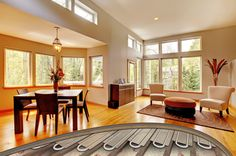Electric Underfloor Heating, Underfloor Heating Systems, Types Of Flooring, Timber Flooring, Heating And Plumbing, Concept Architecture, Floor Finishes, Log Homes, Building A House