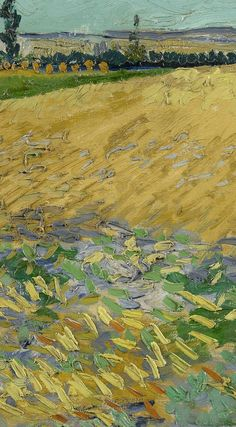 Detail of ' Wheatfield', June Vincent van Gogh - Credits (obliged to state): Van Gogh Museum, Amsterdam (Vincent van Gogh Foundation). Oil Pastel Paintings, Van Gogh Paintings, Van Gogh Wallpaper, Van Gogh Landscapes, Van Gogh Art, Van Gogh Museum, High Art, Vincent Van Gogh, Monet