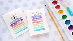 Easy DIY Birthday Cards Using Minimal Supplies – kwernerdesign blog