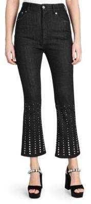 Miu Miu Embellished Flared Jeans Flare Jeans Outfit, Jean Outfits, Miu Miu, Black Jeans, Legs, Chic, Sweaters, Pants, Collection
