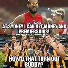 Football Memes, Football Team, Aussie Memes, Hawks, How To Get Money, Funny Memes, Entertaining, Club, Sports Teams