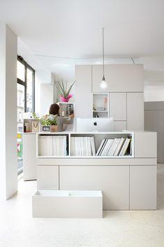 nichos no escritorio ACHADOS DE DECORAÇÃO - blog de decoração