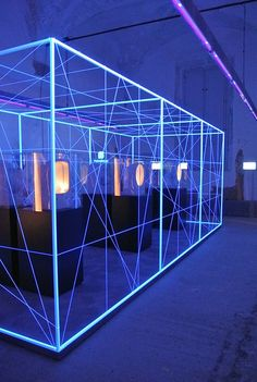 Jewel Light installation by Pozzi-Ginori at BWD #light #divider