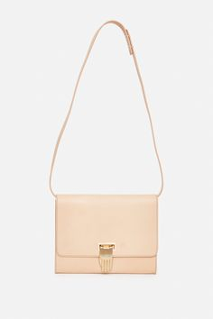 OPENING CEREMONY NOKKI VACHETTA LEATHER CROSSBODY BAG