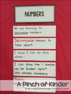 Teaching Decomposing Numbers in FDK