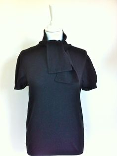 Valentino Cashmere Short Sleeved Black Pull Size 38 via The Queen Bee. Click on the image to see more!