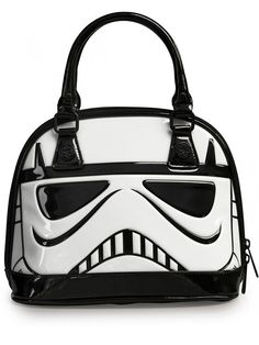 """Star Wars Stormtrooper"" Patent Dome Bag by Loungefly (White) #stormtrooper #bag #loungefly #inkedshop"