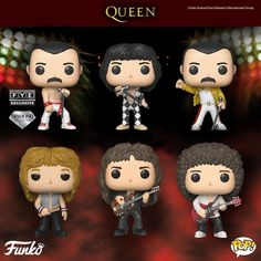 I have John Deacon and Freddie Mercury all ready.I want the rest I have John Deacon and Freddie Mercury all ready.I want the rest John Deacon, Queen Band, Funko Pop Figures, Pop Vinyl Figures, Bryan May, El Rock And Roll, Roger Taylor, Pop Characters, We Will Rock You