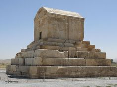 Tomb of Cyrus the Great, in Pasargadae, Iran, which was his capital city of the Persian Empire.
