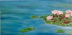 Estanque 2, pintura naive, óleo sobre tela