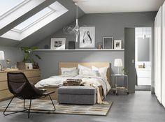 Chambre Sous Comble grise